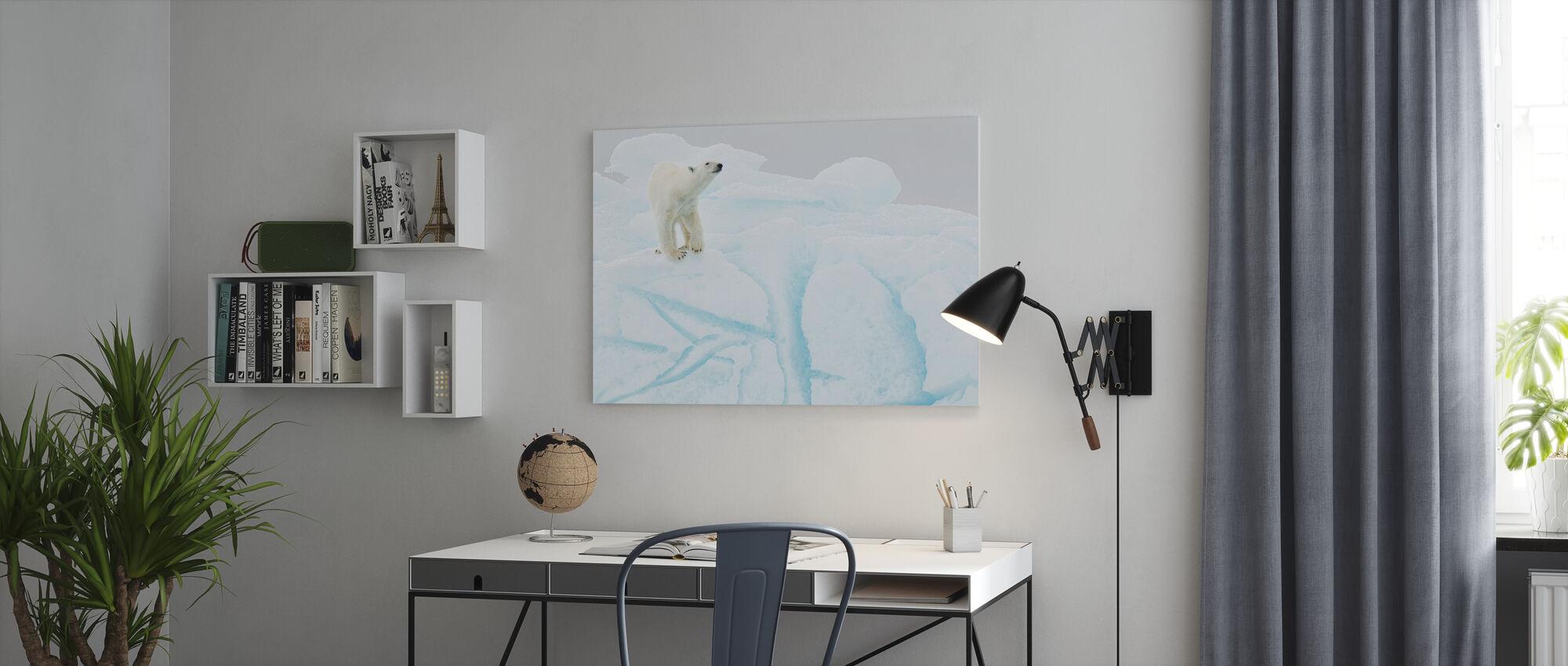 Polar Bear on Iceberg - Canvas print - Office