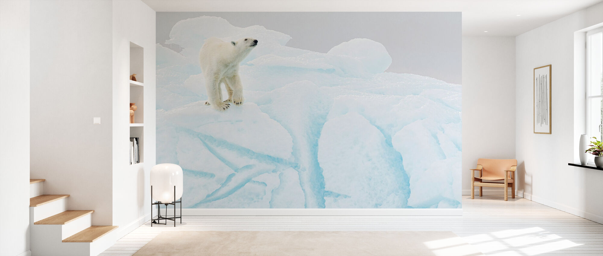 Polar Bear on Iceberg - Wallpaper - Hallway