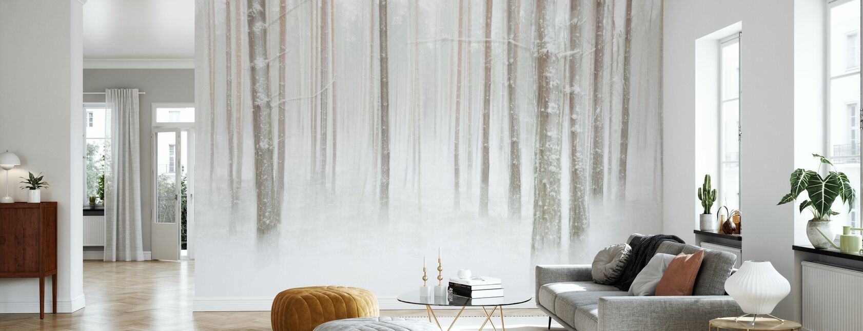 Winterforest in Svezia - Carta da parati - Salotto