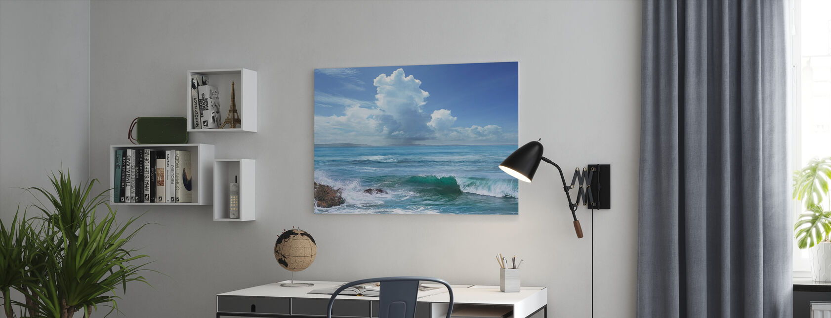 Perfect Wave - Canvas print - Office