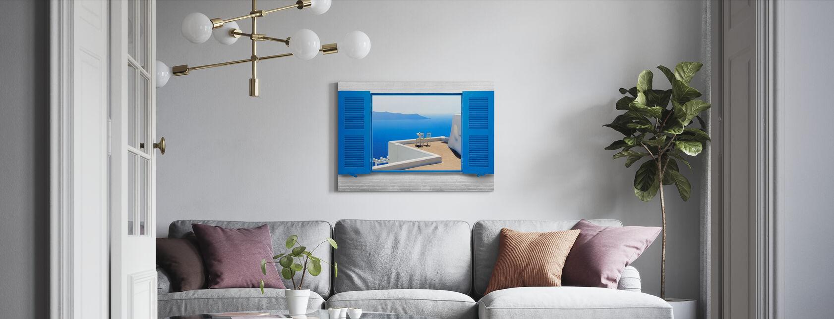 Livets fönster - Canvastavla - Vardagsrum