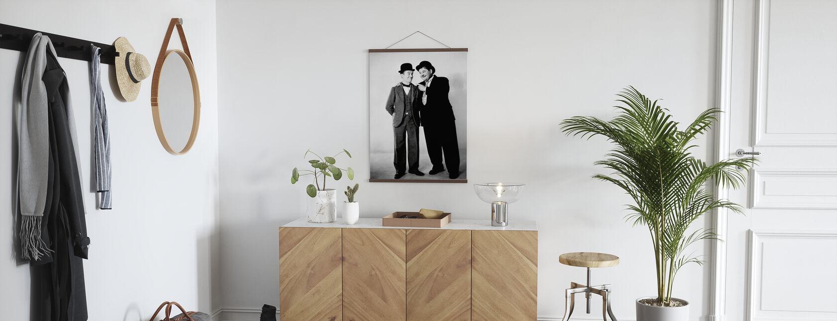 Oliver Hardy und Stan Laurel - Poster - Flur