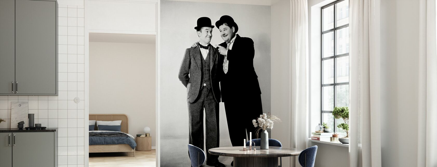 Oliver Hardy and Stan Laurel - Wallpaper - Kitchen