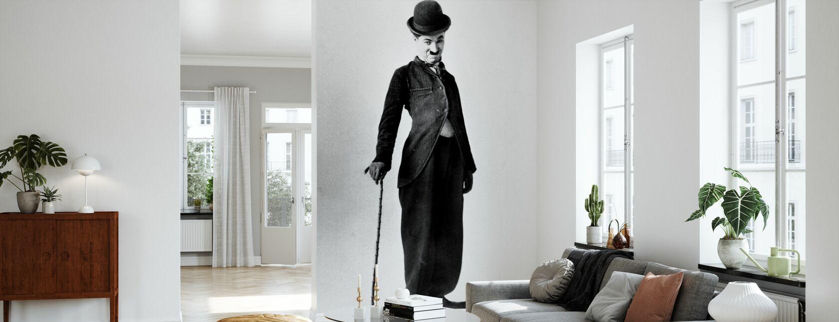 Lufsen - Charlie Chaplin - Tapet - Vardagsrum
