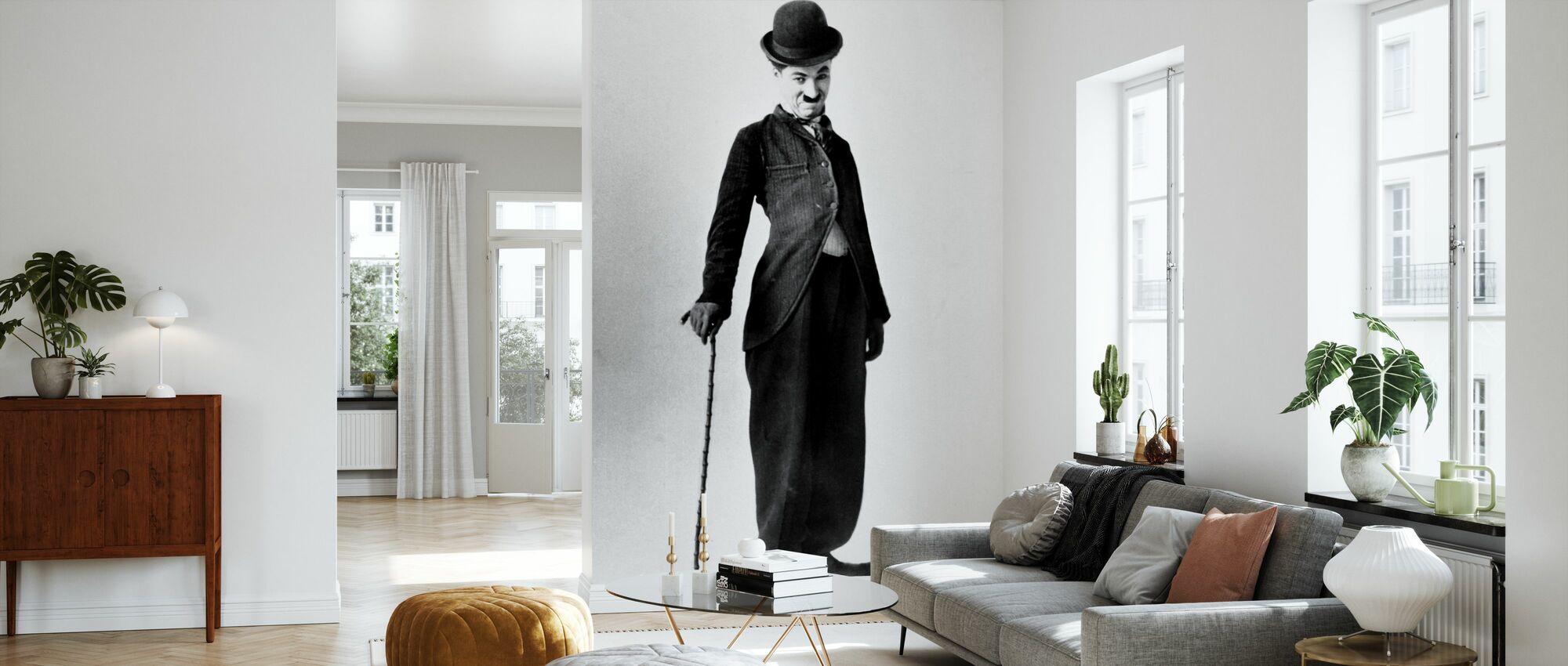 Strolch - Charlie Chaplin - Tapete - Wohnzimmer