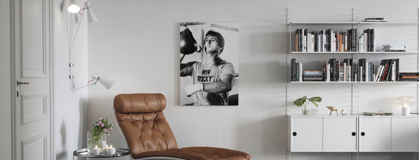 Rocky - Sylvester Stallone - Leinwandbild - Wohnzimmer