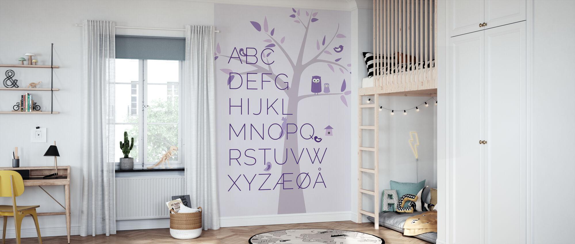 ABC Treet - NO - Lilla - Tapet - Barnerom