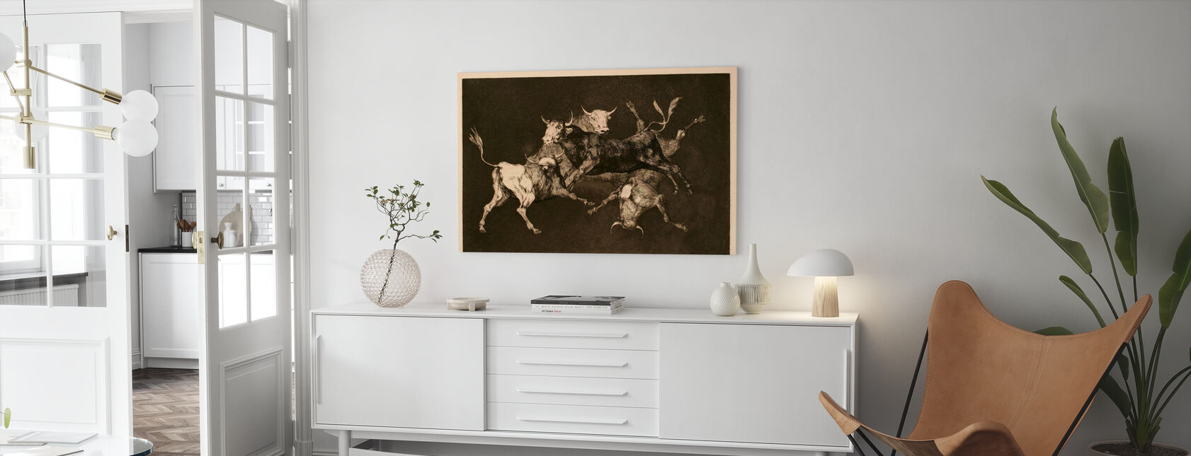 Francisco De Goya And Lucientes - Infographics - Canvas print - Living Room