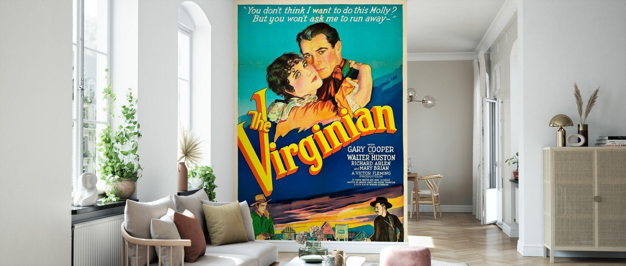 Virginian - Infografik - Tapet - Vardagsrum
