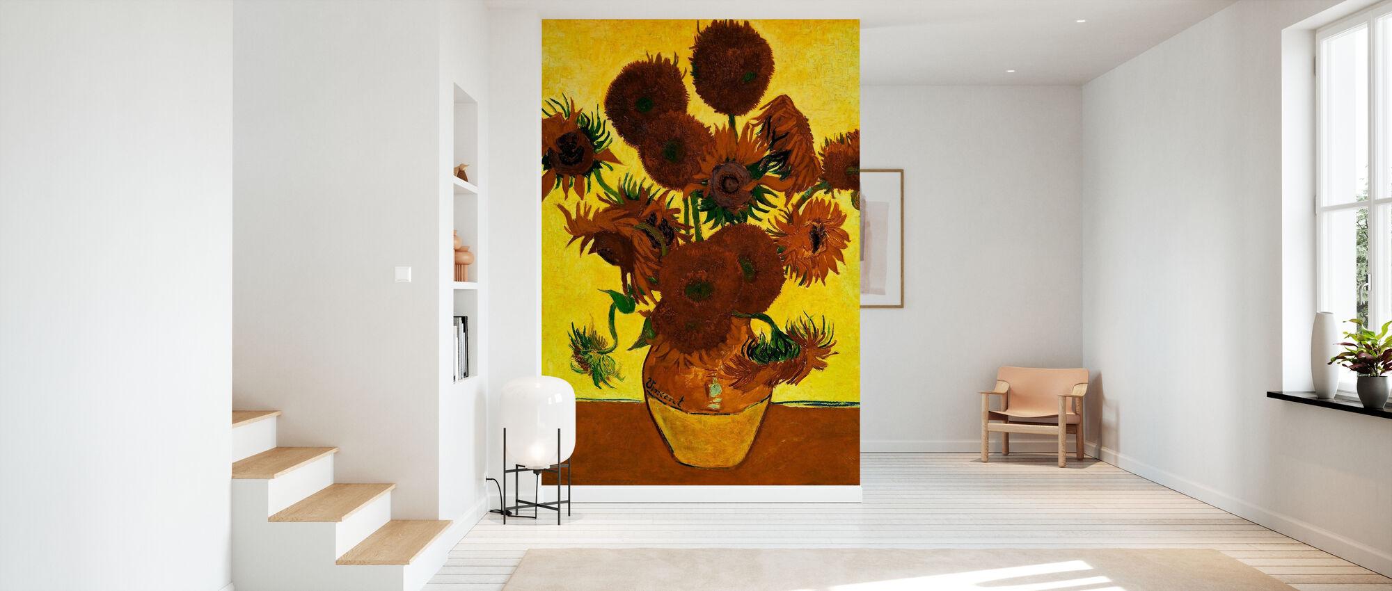 Solsikker - Vincent Van Gogh - Tapet - Gang