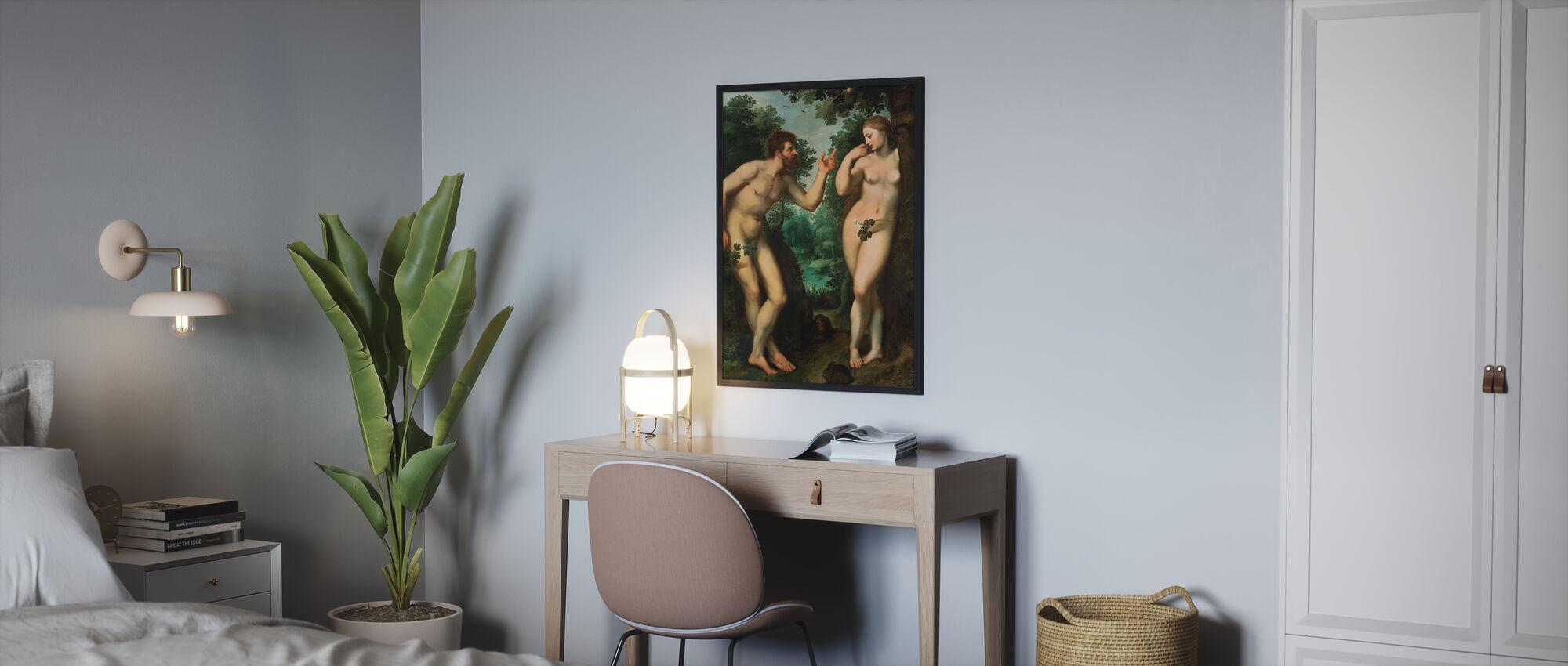 Adam og Eva - Peter Paul Rubens - Plakat - Soverom