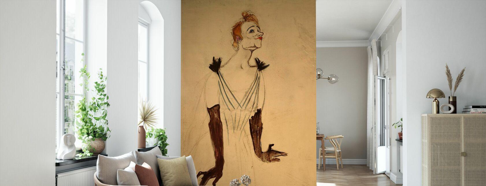 Yvette Guilbert - Henri de Toulouse Lautrec - Carta da parati - Salotto