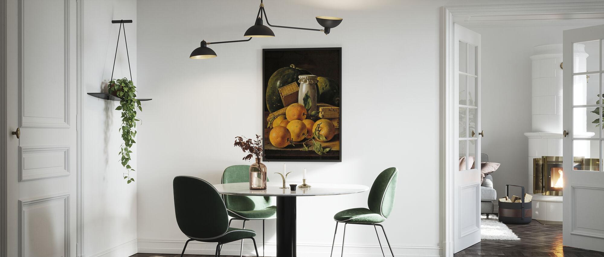 Stilleven van Sinaasappelen - Luis Egidio Melendez - Ingelijste print - Keuken