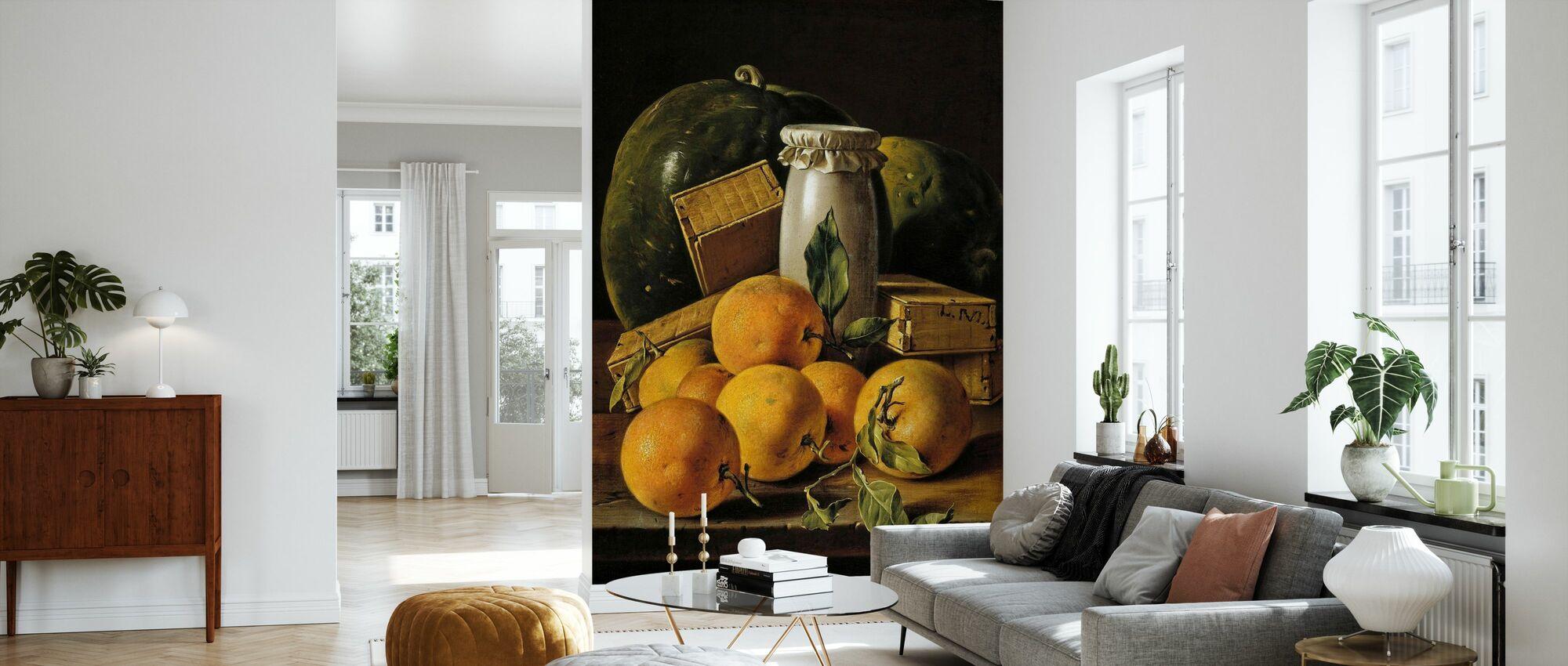 Fortsatt Liv Av Appelsiner - Luis Egidio Melendez - Tapet - Stue