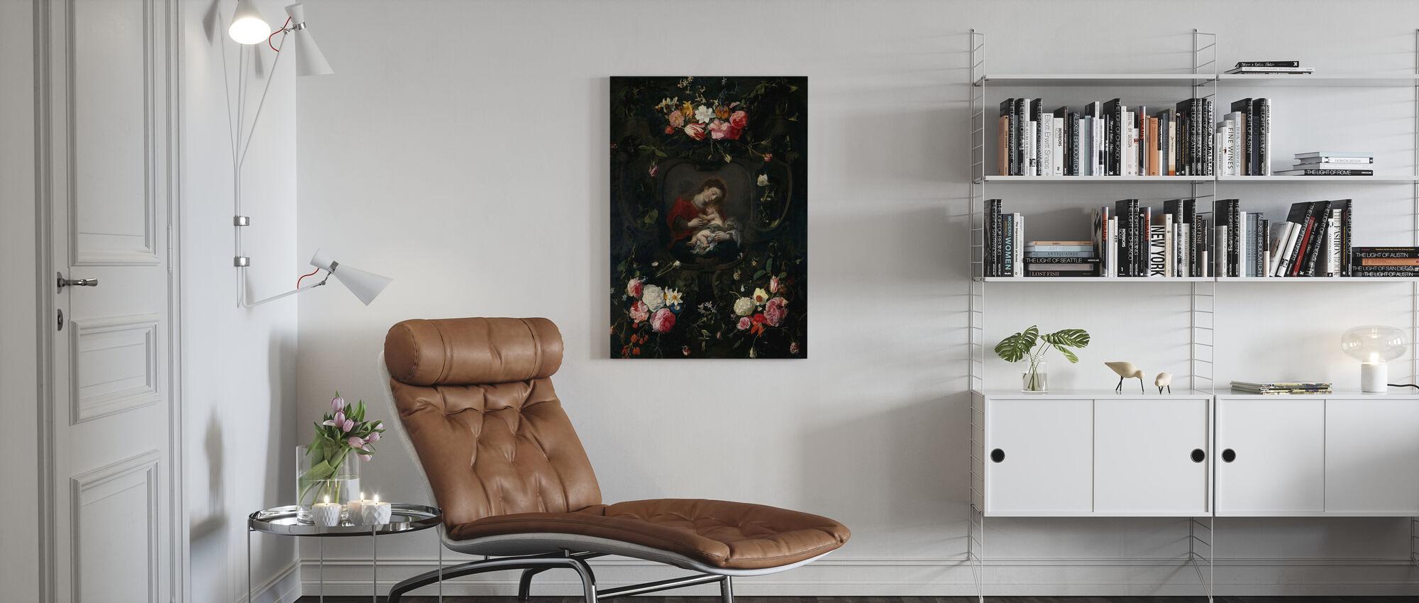 Girlande mit der Jungfrau und Kind - Daniel Seghers - Leinwandbild - Wohnzimmer