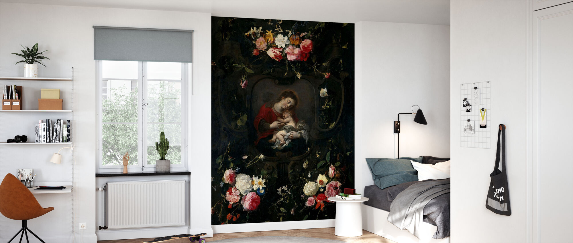 Garland with the Virgin and Child - Daniel Seghers - Wallpaper - Kids Room