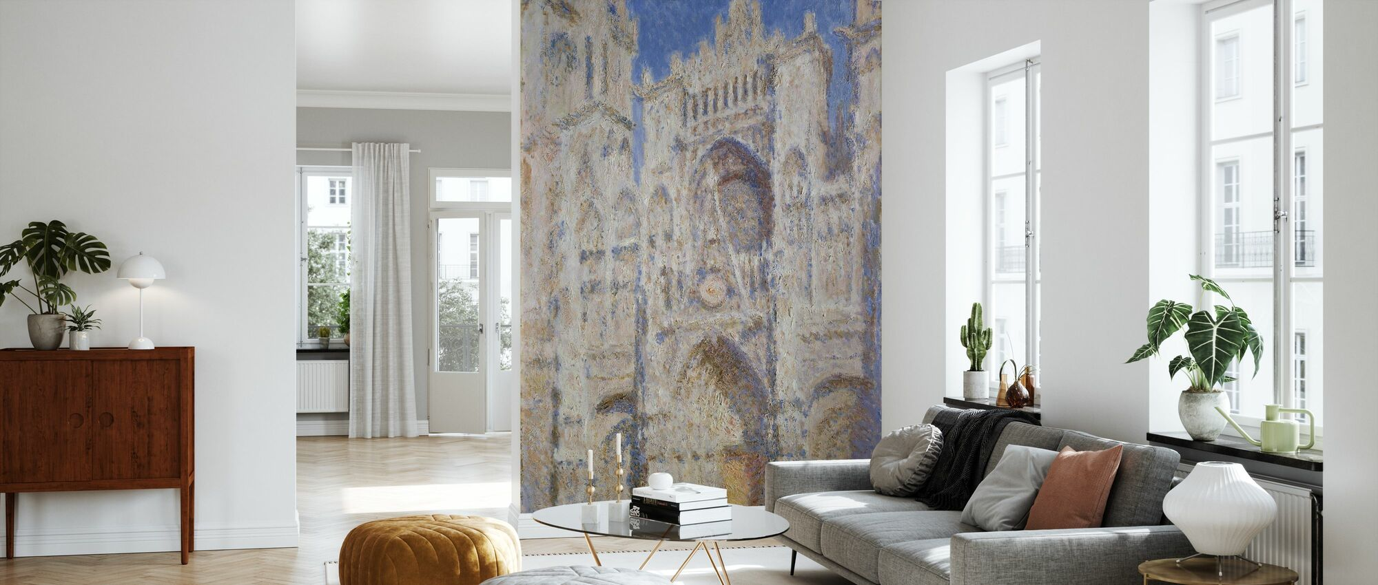 Rouen katedraali portaali - Claude Monet - Tapetti - Olohuone