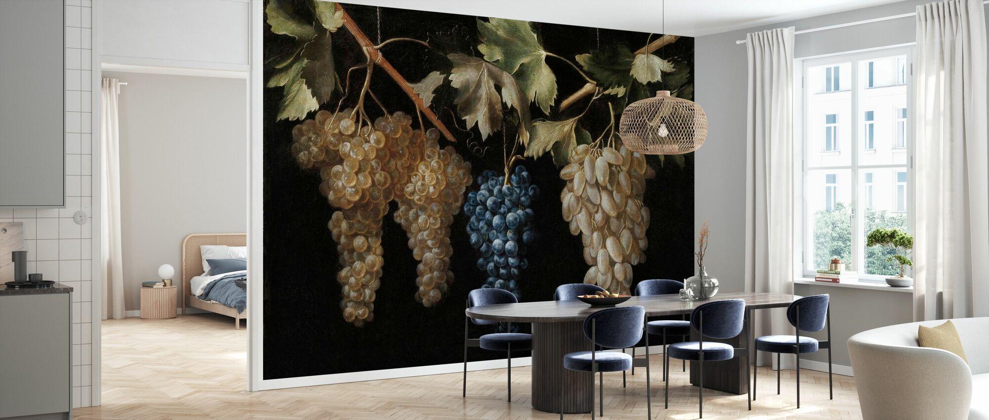 Vier Trauben hängender Trauben - Juan Fernandez - Tapete - Küchen