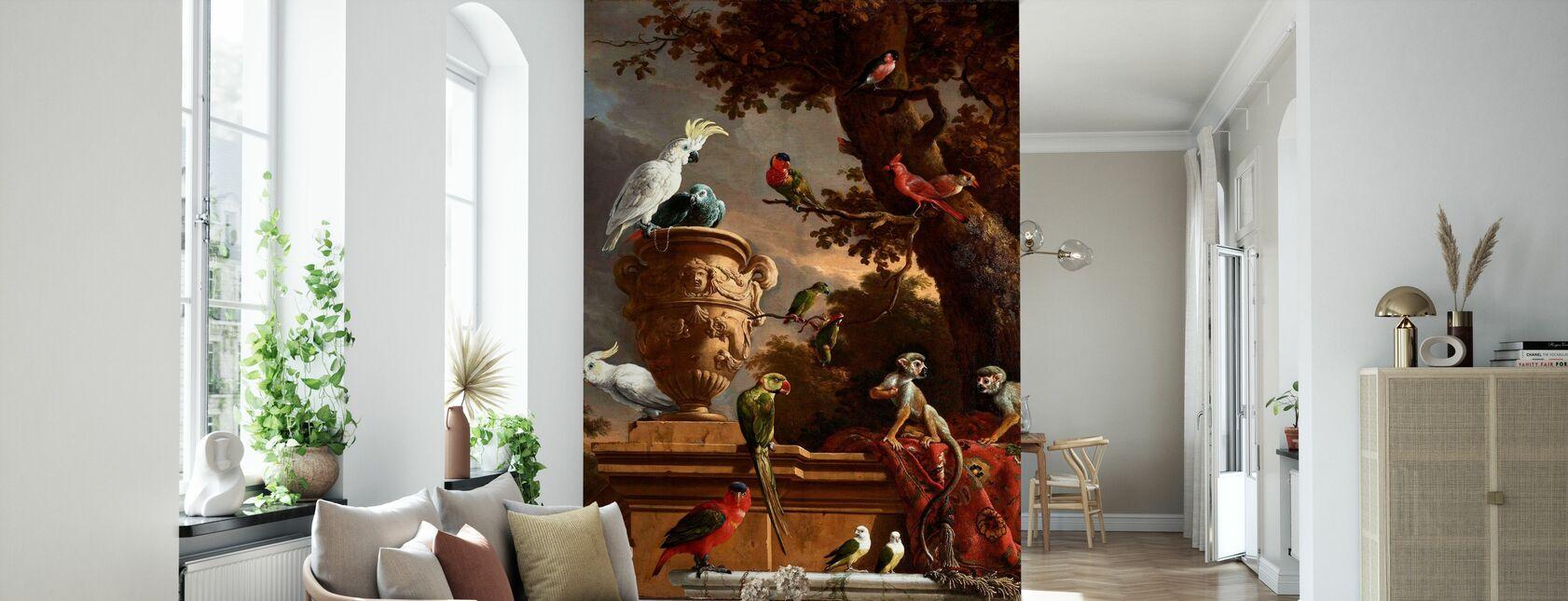 Menagerie - Melchior D'Hondecoeter - Wallpaper - Living Room