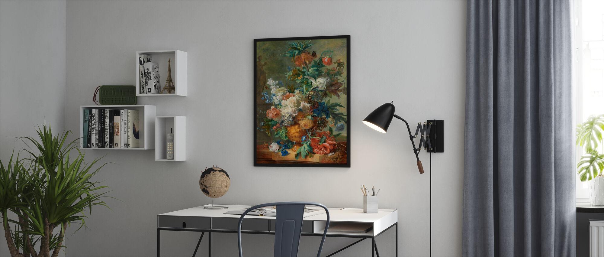 Stilleben med blommor - Jan Van Huysum - Poster - Kontor