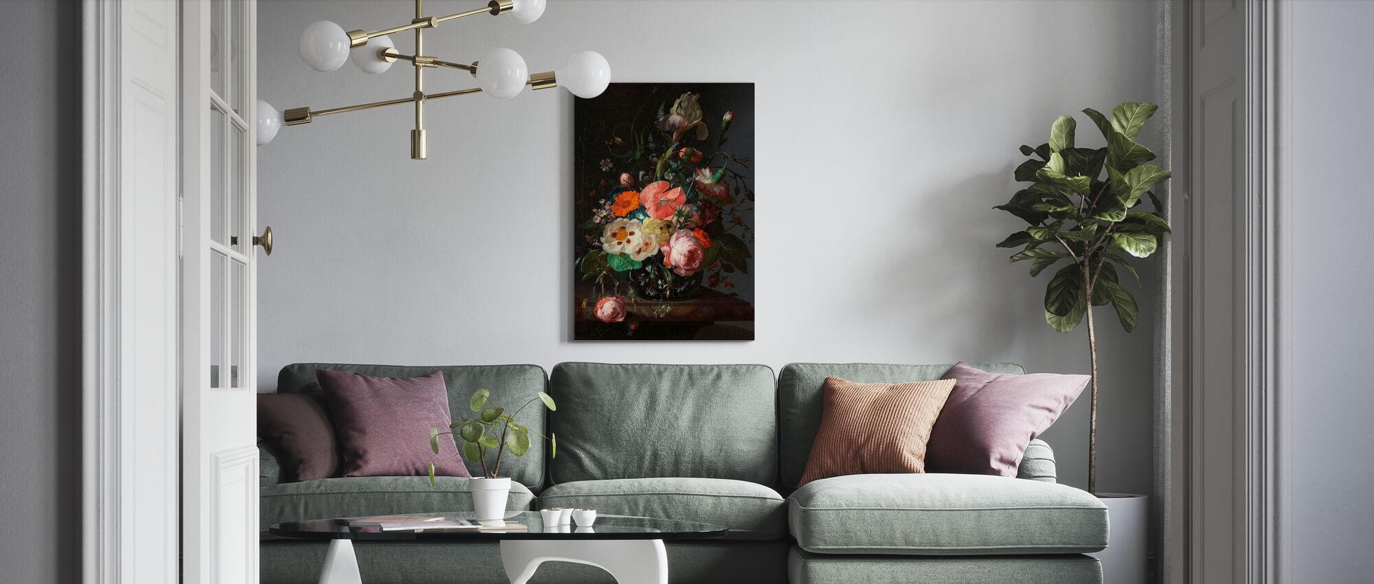 Stilleven met bloemen - Rachel Ruysch - Canvas print - Woonkamer