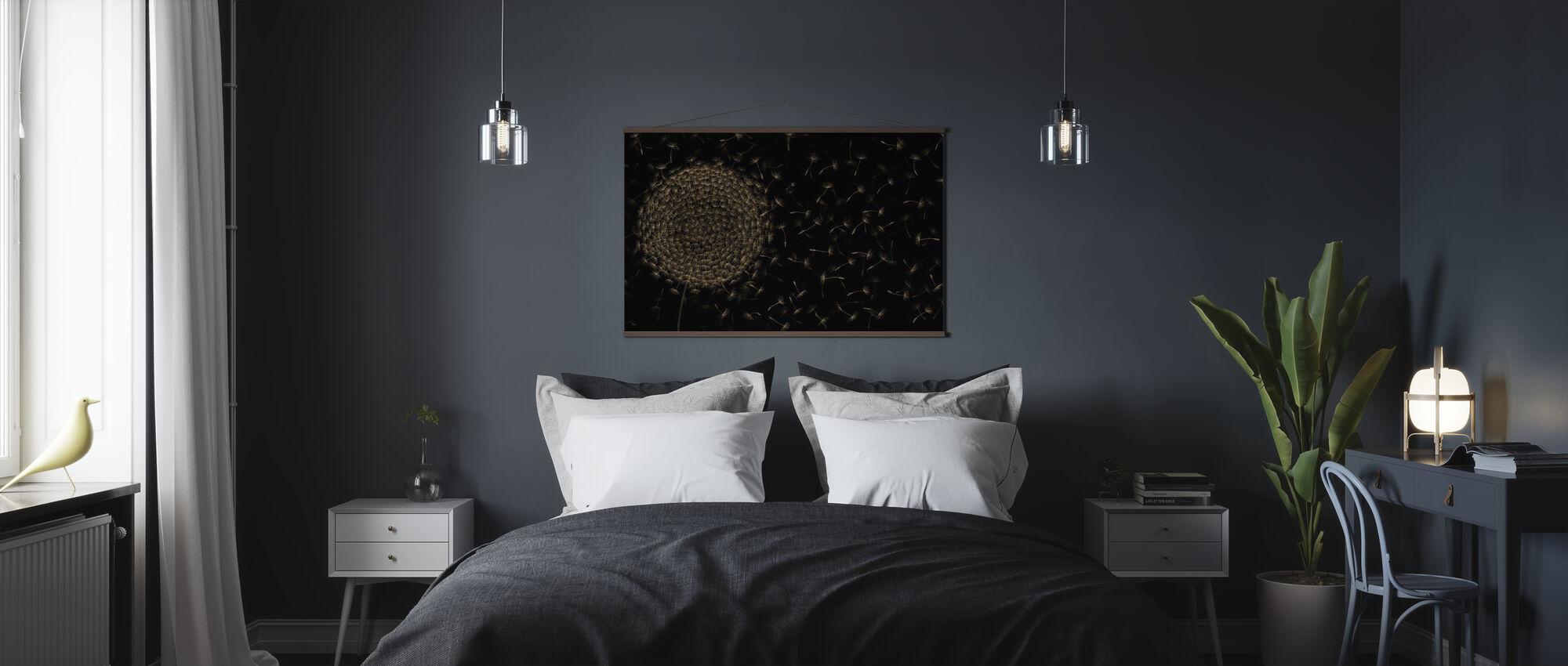 Dandelion Blowing - Dark - Poster - Bedroom