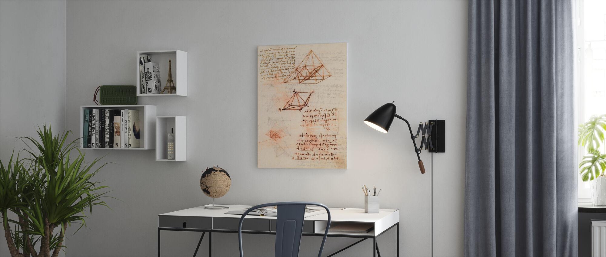 Codex Madrid II - Leonardo Da Vinci - Canvas print - Office