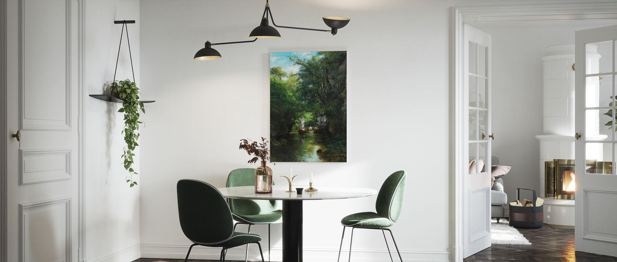 Water Stream - Gustave Courbet - Canvas print - Kitchen