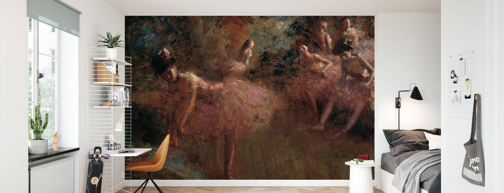 Dancers in Pink - Jean Louis Forain - Wallpaper - Kids Room