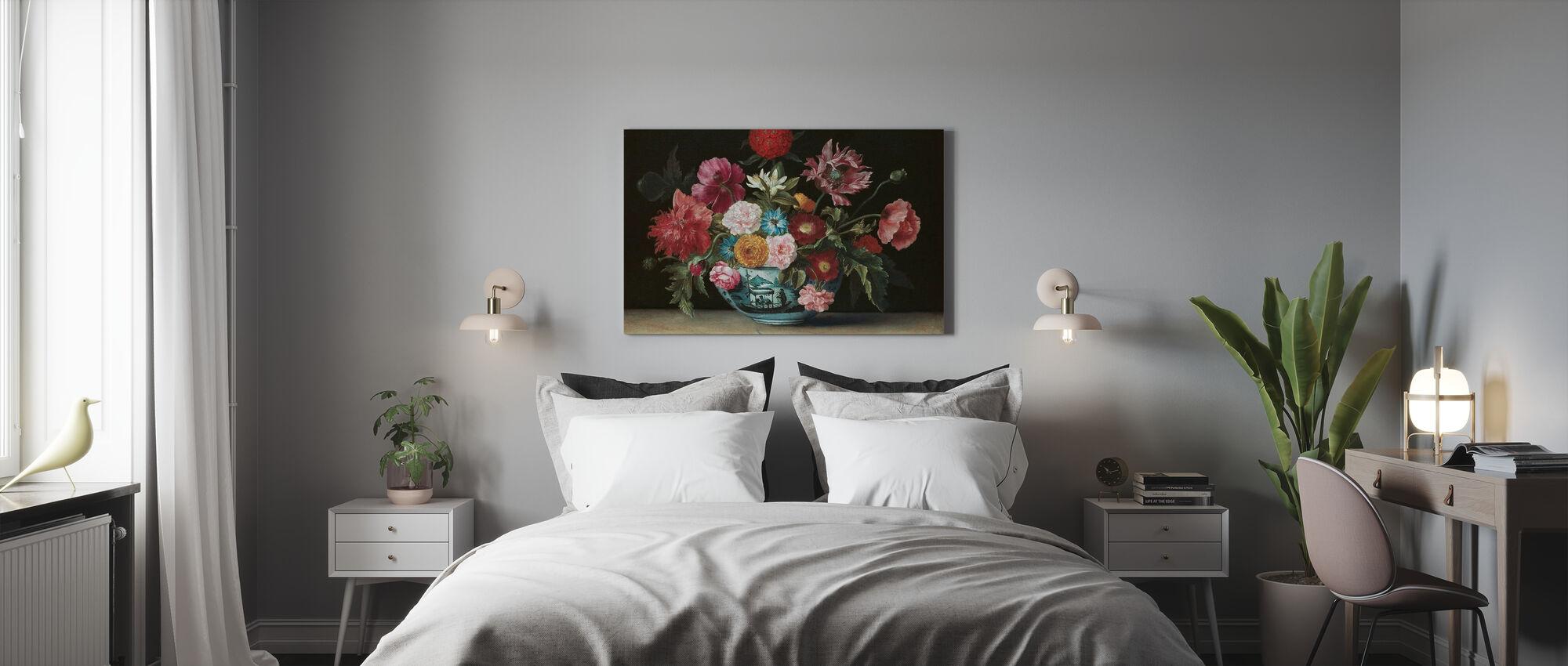 Chinese schaal met bloemen - Jacques Linard - Canvas print - Slaapkamer