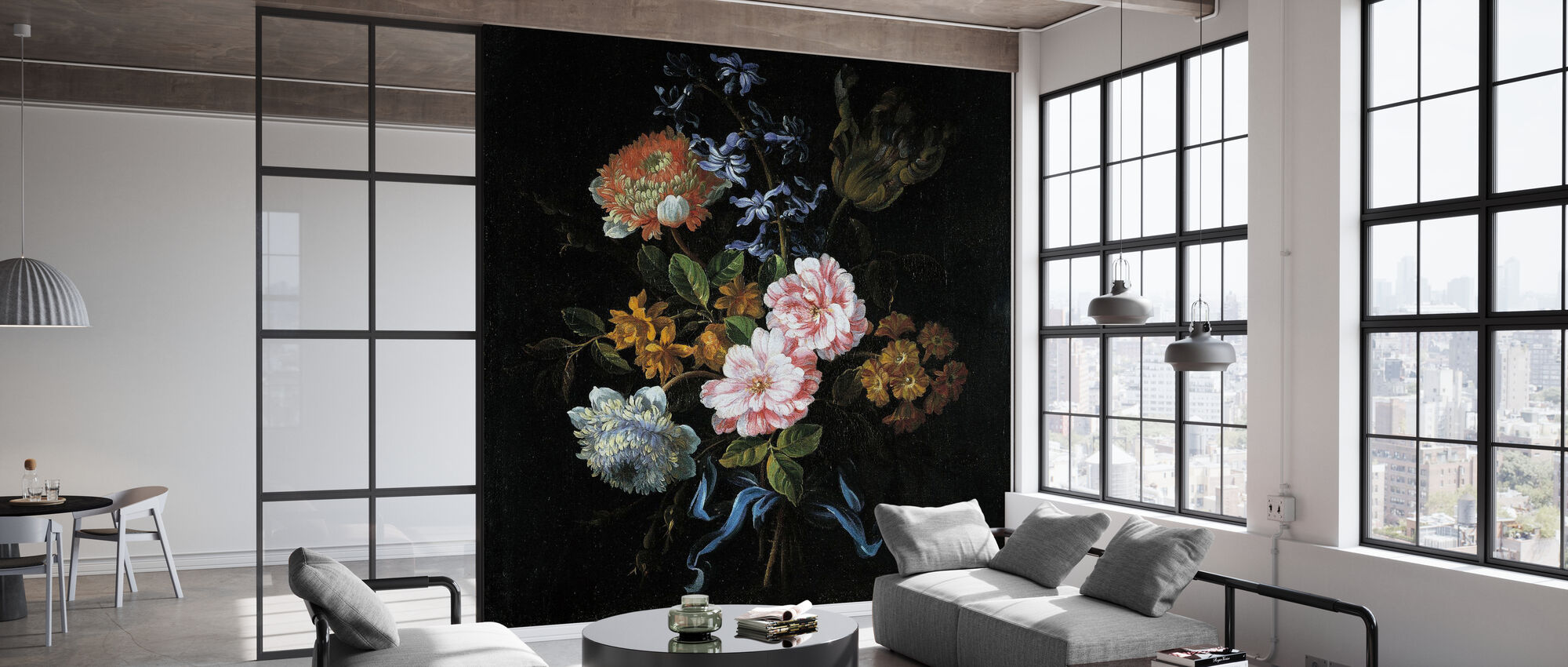 Blumenstrauß - Jean Baptiste Monnoyer - Tapete - Büro