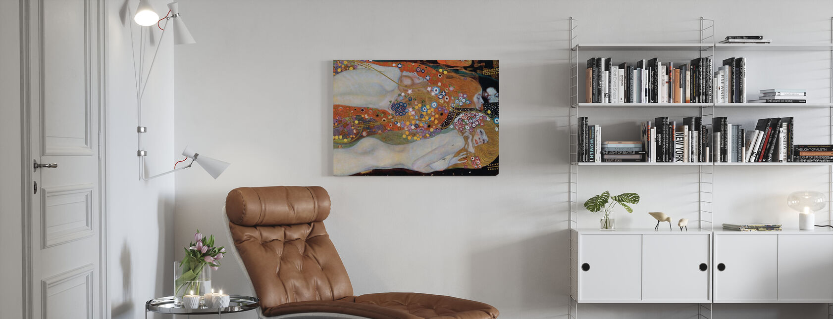 Wasserschlangen - Gustav Klimt - Leinwandbild - Wohnzimmer