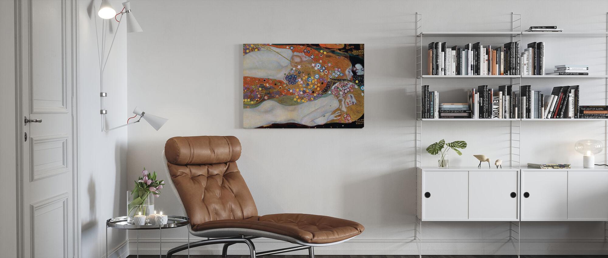 Water Serpents - Gustav Klimt - Canvas print - Living Room