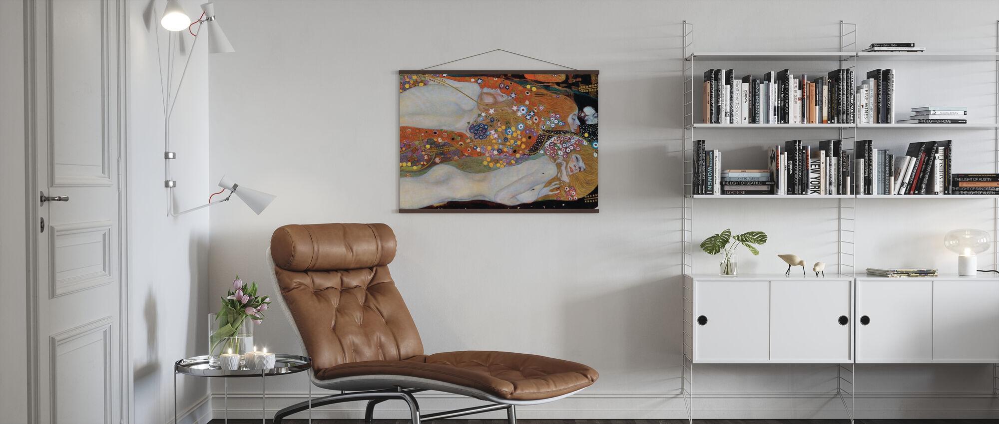 Wasserschlangen - Gustav Klimt - Poster - Wohnzimmer
