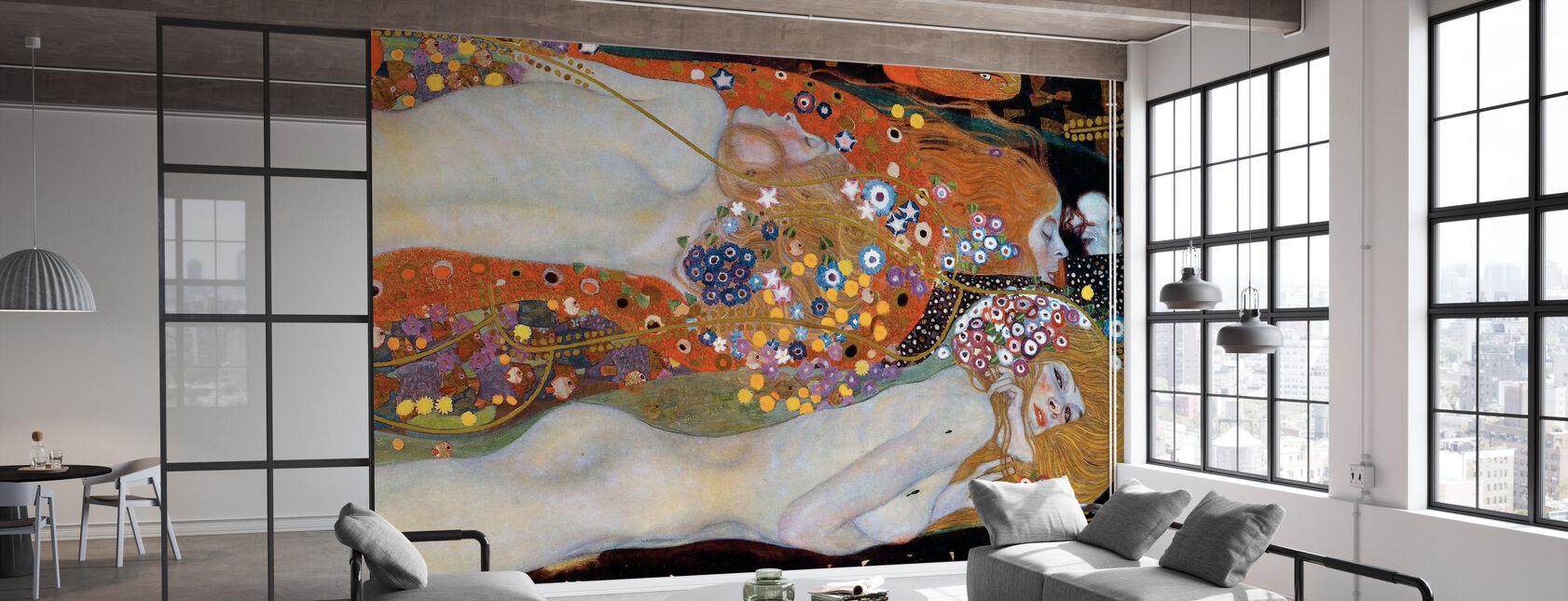 Water Serpents - Gustav Klimt - Wallpaper - Office
