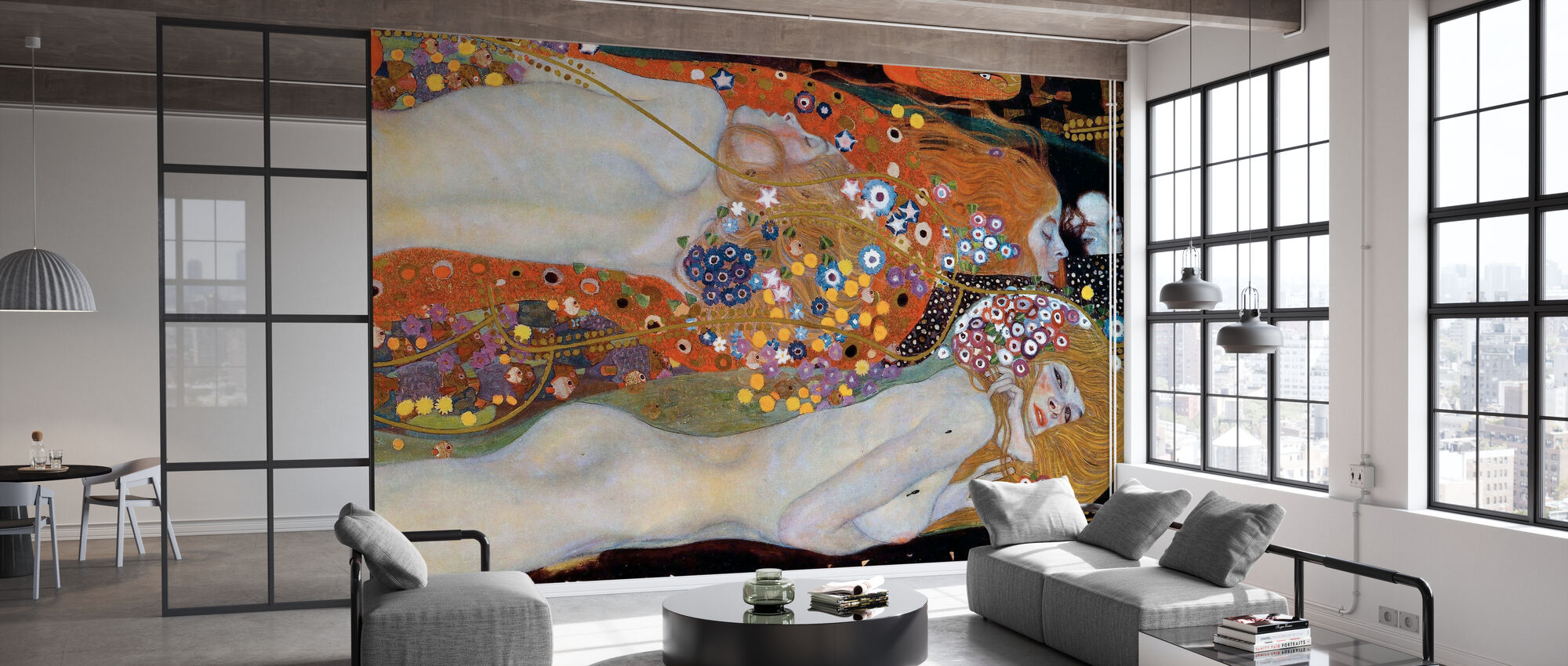 Water Serpents - Gustav Klimt - Wallpaper - Office