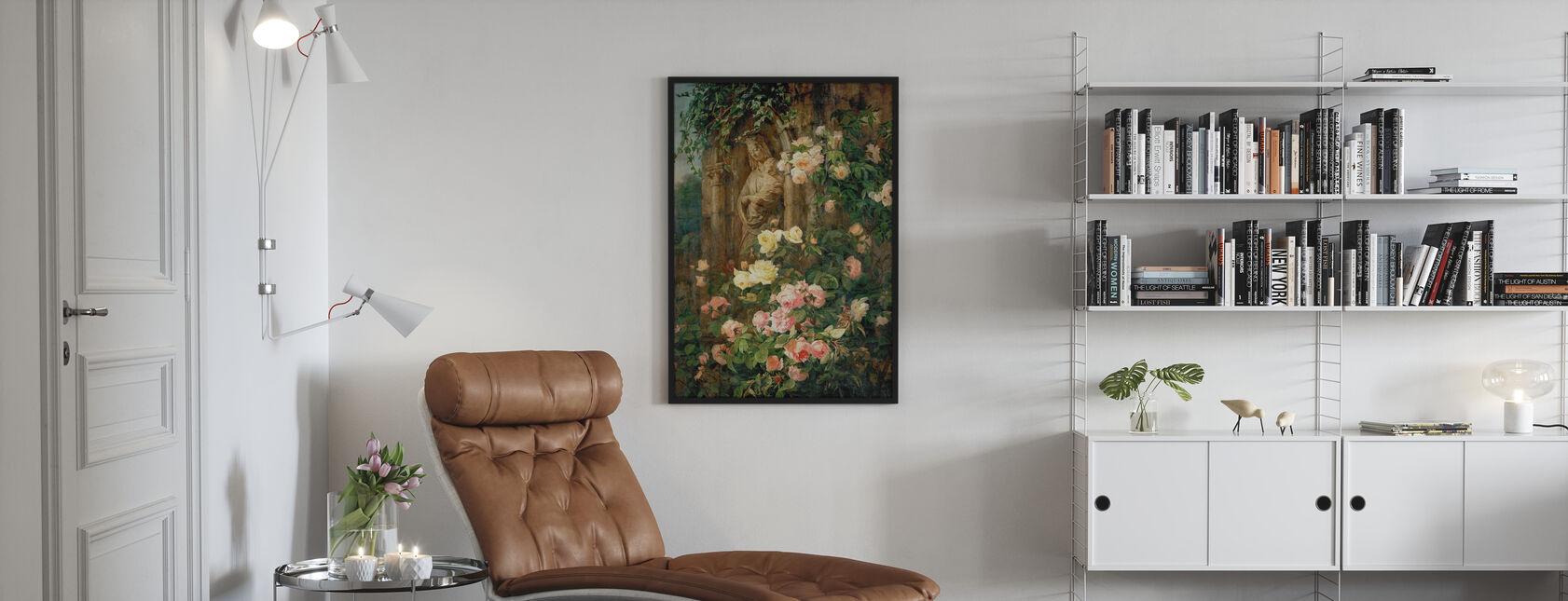 Mother Mary Rose Flower - Simon Saint Jean - Poster - Living Room