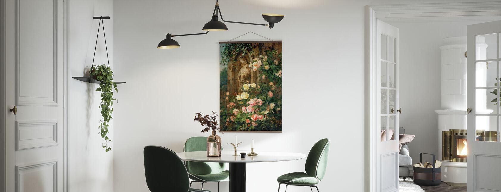 Mother Mary Rose Flower - Simon Saint Jean - Poster - Kitchen