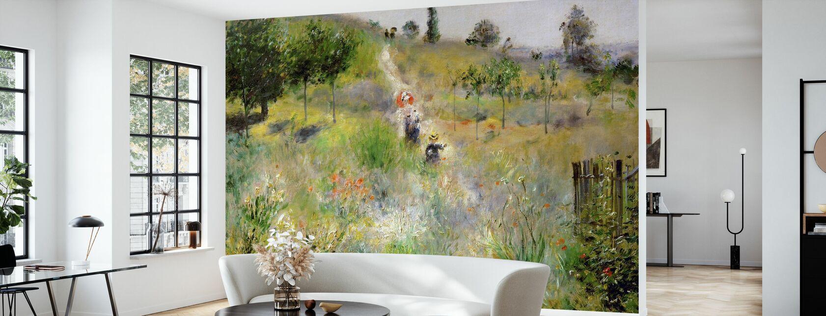 Sentiero attraverso l'erba alta - Pierre Auguste Renoir - Carta da parati - Salotto