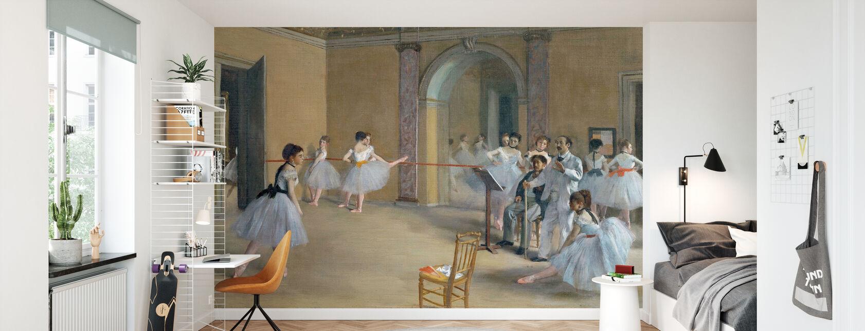 Dansfoyer bij de Opera - Edgar Degas - Behang - Kinderkamer