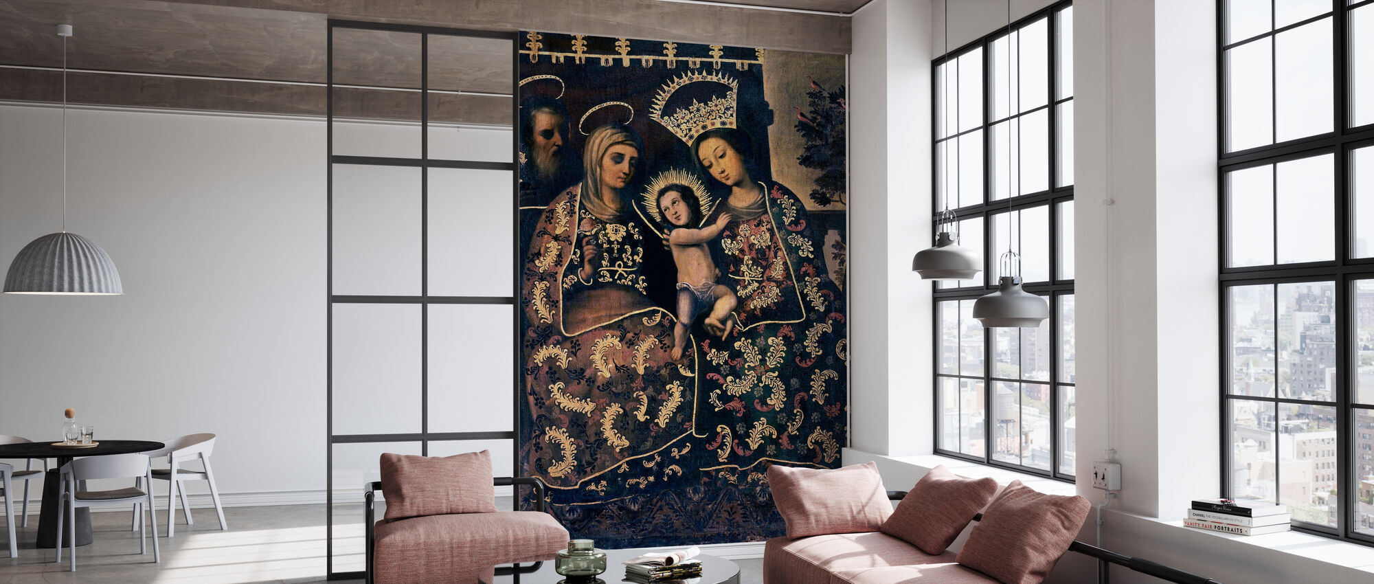 Virgin Mary Painting - Wallpaper - Office