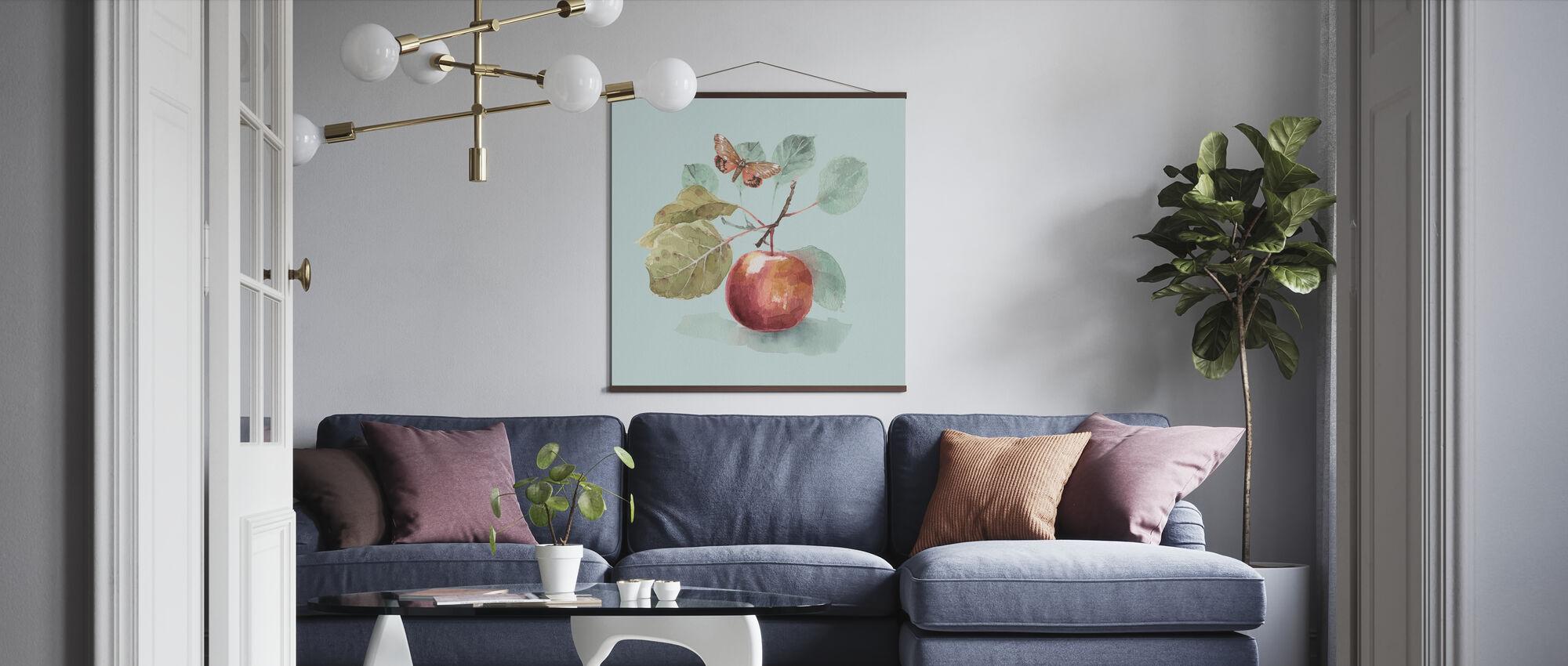 De herfst in de natuur - Aqua - Poster - Woonkamer