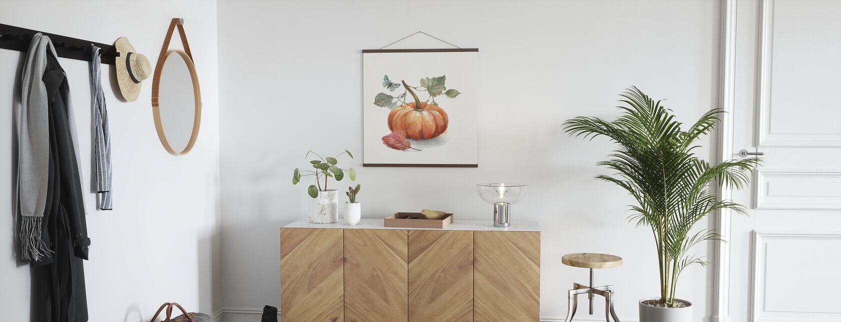 Herbst in der Natur - Weiß - Poster - Flur