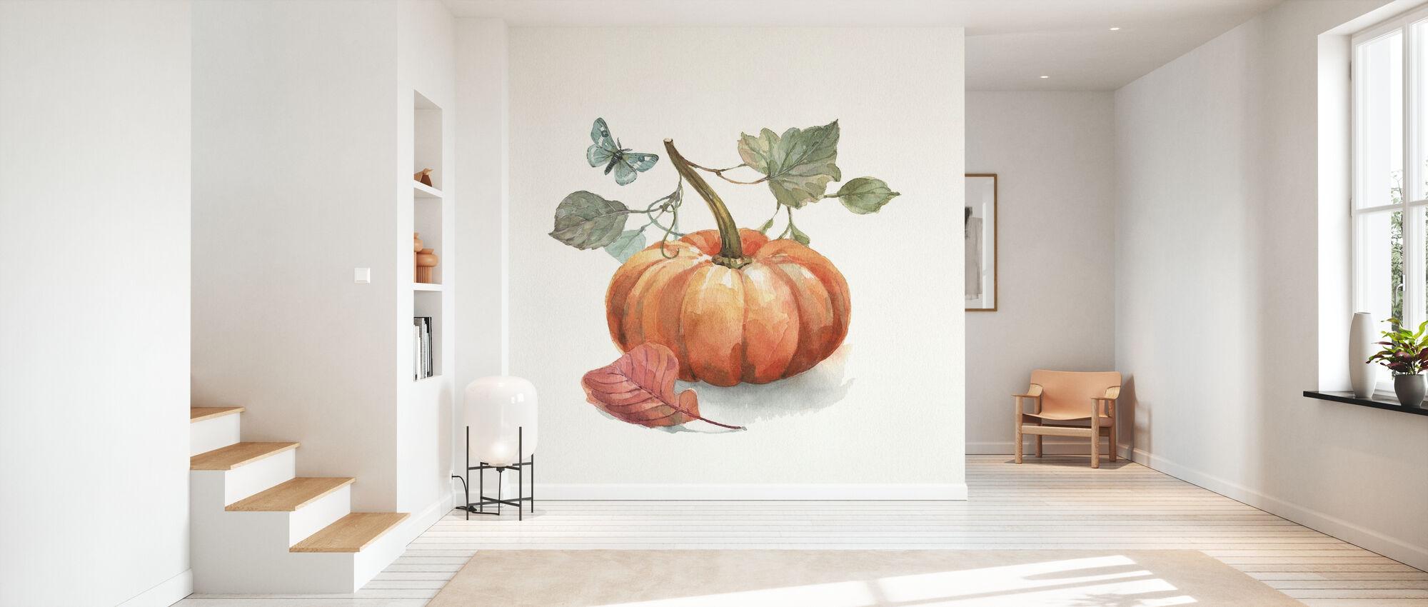 Autumn in Nature - White - Wallpaper - Hallway