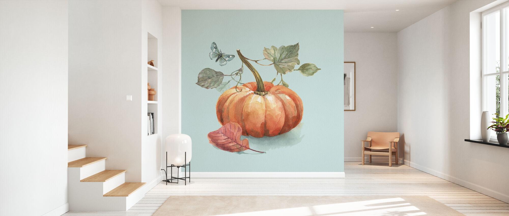 Autumn in Nature - Aqua - Wallpaper - Hallway