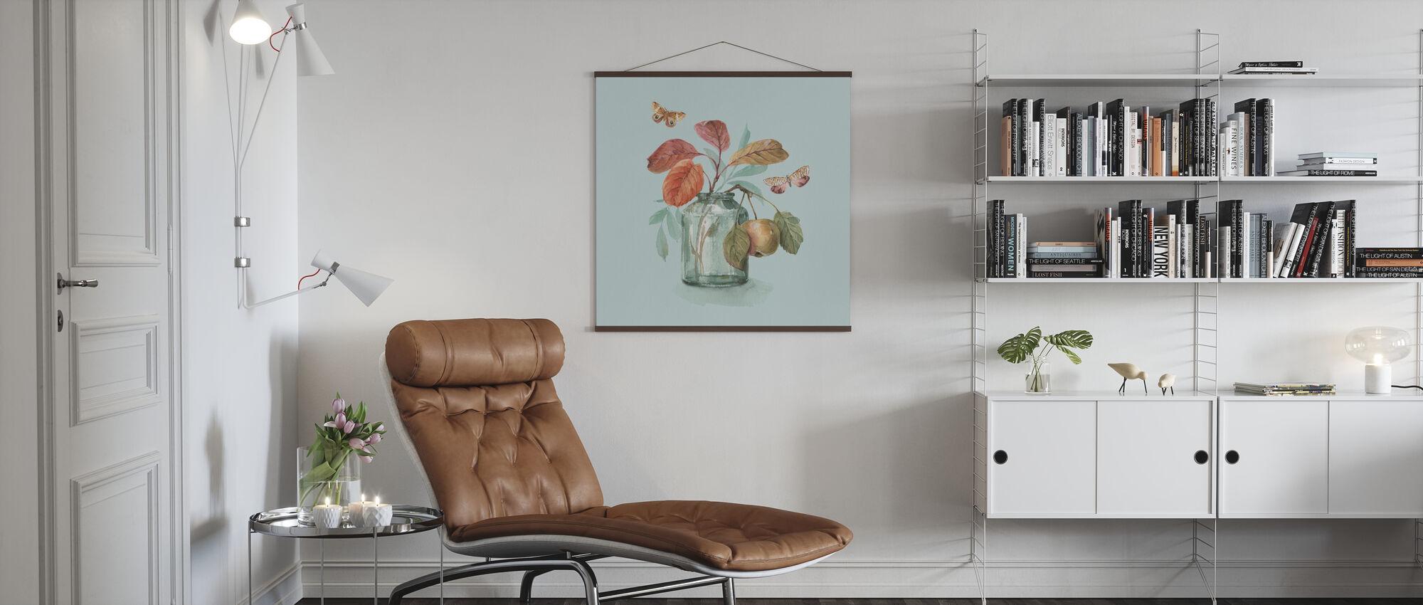 Autumn in Nature - Aqua - Poster - Living Room