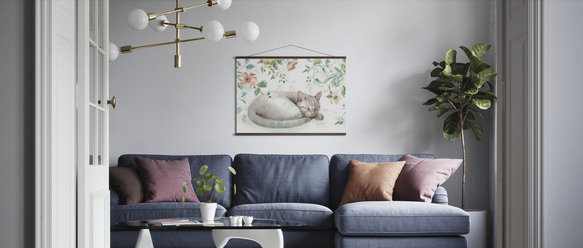 Mint Crush - White - Poster - Living Room