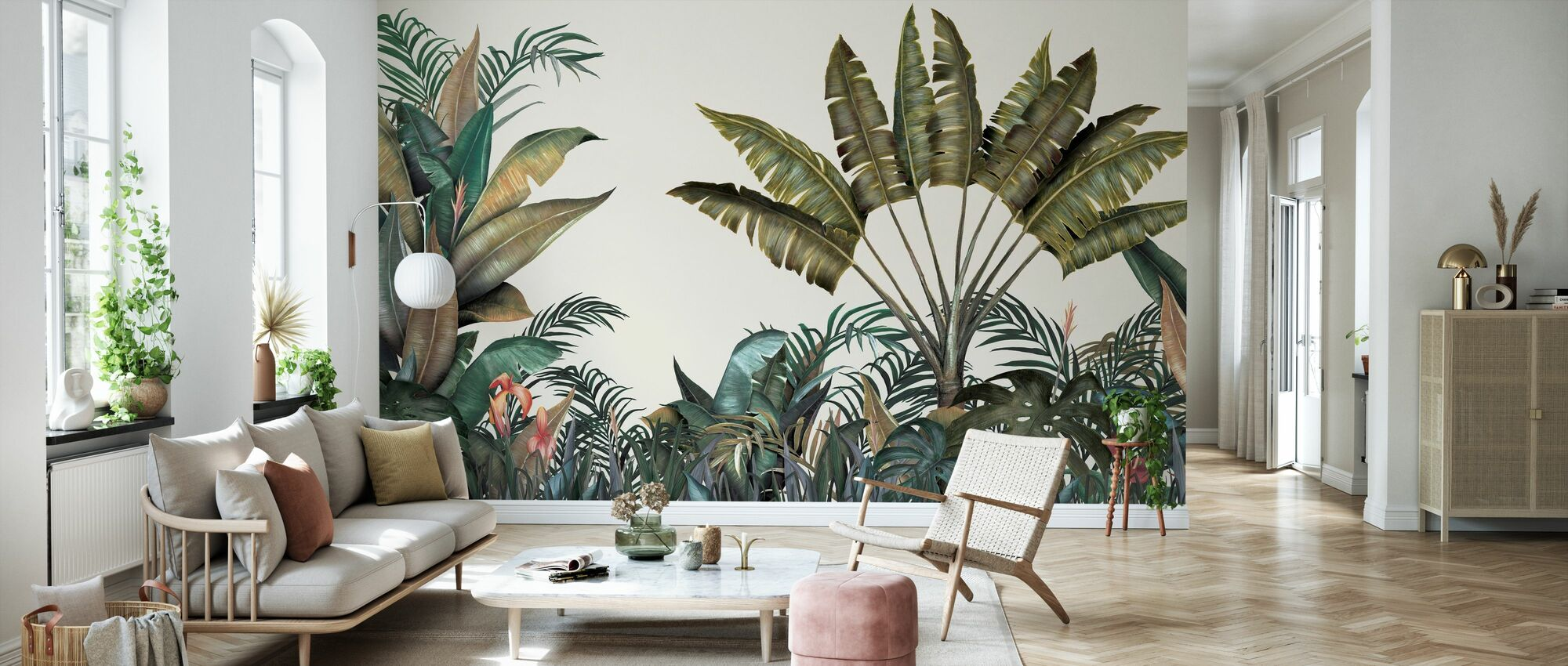 Tropical - Large Leaves - Wallpaper - Living Room