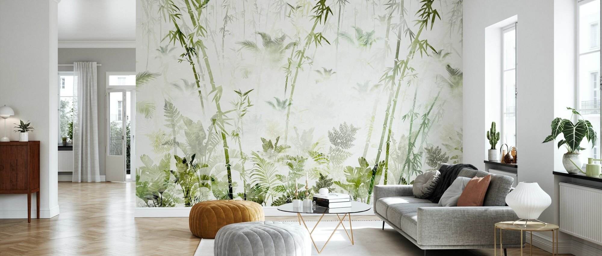 Bamboo Greenery - Wallpaper - Living Room