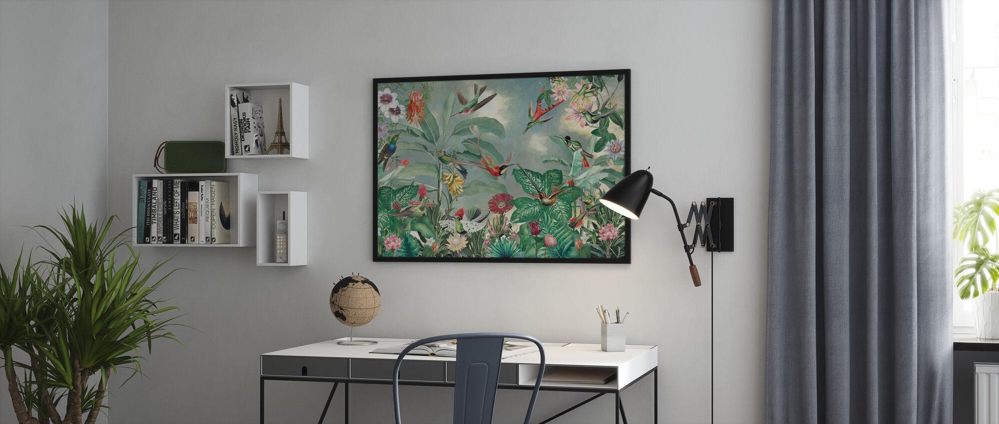 Birds of Paradise - Framed print - Office